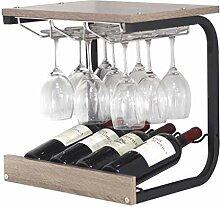CESULIS Étagère à vin en bois massif - 43,5 x