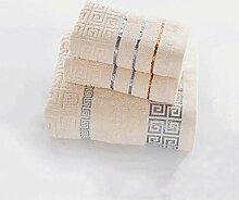 CFSNCM Lot de 3 serviettes en coton 70x140 cm