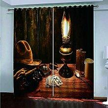CGZLNL Rideaux Salon Occultants 3D Lampe à Huile