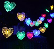 Chaîne lumineuse en forme de coeur d'amour