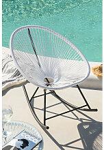 Chaise à Bascule Acapulco Blanc Sklum