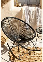 Chaise à Bascule Acapulco Noir Sklum