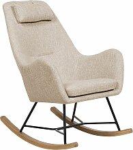 Chaise à bascule beige