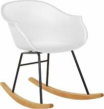 Chaise à bascule blanche