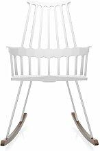 Chaise à bascule COMBACK de Kartell, Blanc-chêne