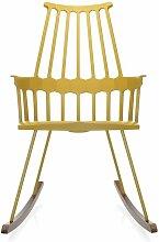Chaise à bascule COMBACK de Kartell, Jaune-chêne