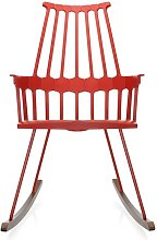 Chaise à bascule COMBACK de Kartell, Rouge