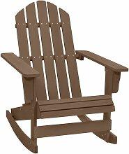 Chaise à bascule de jardin Bois Marron