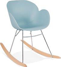 Chaise à bascule design 'BASKUL' bleue en
