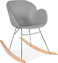Chaise à bascule design 'BASKUL' grise en