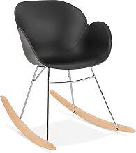Chaise à bascule design 'BASKUL' noire en