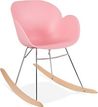 Chaise à bascule design 'BASKUL' rose en