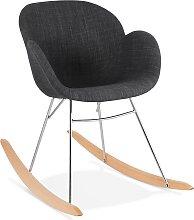 Chaise à bascule design 'ROCKY' gris