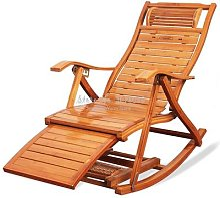 Chaise à bascule en bambou pour adulte, fauteuil