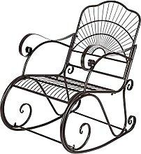 Chaise à bascule en fer en forme de soleil pour