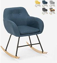 Chaise à bascule en tissu patchwork design