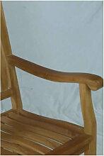 Chaise à bascule pour extérieur en teck naturel