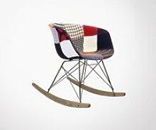Chaise à bascule rembourrée patchwork ray  -