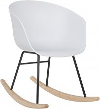 Chaise à bascule Yäh Blanc & Noir Sklum