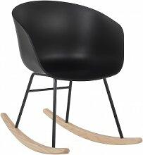 Chaise à bascule Yäh Noir & Noir Sklum