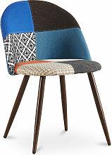 Chaise à manger tapissée scandi retro design