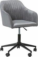 Chaise à roulettes en tissu gris VENICE