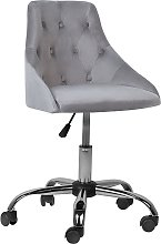 Chaise à roulettes en velours gris PARRISH