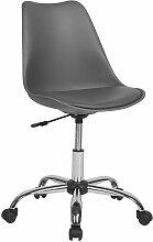 Chaise à roulettes grise DAKOTA II