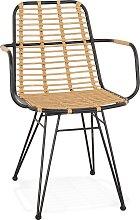 Chaise avec accoudoirs 'BASTIA' en rotin
