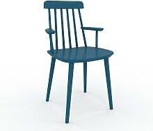 Chaise avec accoudoirs Bleu pétrole de 43 x 82 x