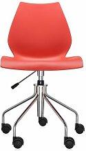 Chaise avec roulettes MAUI de Kartell, Pourpre