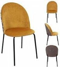 Chaise bicolore retro flower