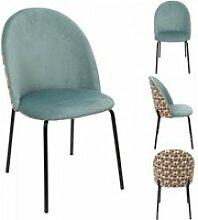 Chaise bicolore retro geo