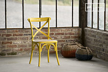 Chaise bistrot Pampelune Jaune