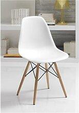 Chaise blanche scandinave LOZANO, lot de 4