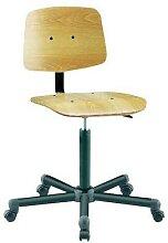 chaise bois roulettes base en nylon