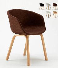 Chaise bureau Design Scandinave Komoda | Marron