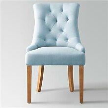 Chaise capitonnée en tissu bleu NESSY 3