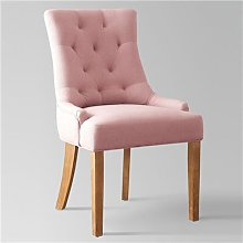 Chaise capitonnée en tissu rose NESSY 2