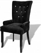 Chaise capitonnée noir 54 x 56 x 106 cm