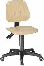 Chaise d'atelier pivotante Unitec roulettes