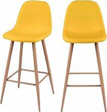 Chaise de bar Fredrik jaune 72.5 cm (lot de 2) -