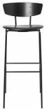 Chaise de bar Herman / H 76 cm - Cuir - Ferm