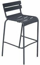 Chaise de bar Luxembourg / H 80 cm - Aluminium -