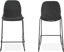 Chaise de bar moderne avec revêtement tissu - Aldo