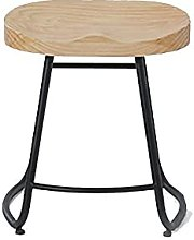 Chaise de bar moderne en bois massif pour salle à