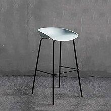 Chaise de bar moderne minimaliste en fer forgé