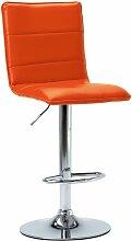 Chaise de bar Orange Similicuir