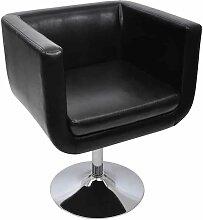 Chaise de Bar Similicuir Noir