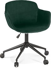 Chaise de bureau 'ROLLING' en velours vert